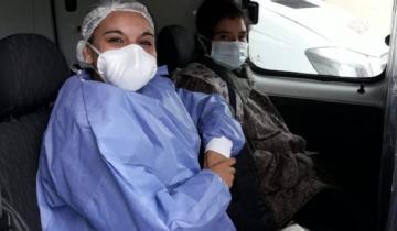 Imagen de Coronel Vidal: trasladaron a la mujer que apareció deambulando en la Ruta 2