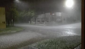 Imagen de Alerta meteorológico por fuertes tormentas con caída de granizo en la región