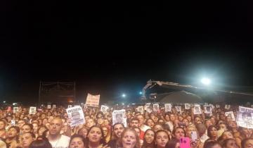 Imagen de En la Fiesta Nacional de la Guitarra la gente pidió justicia por Fernando Báez Sosa