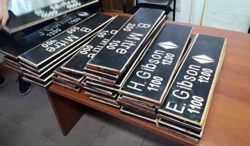 Imagen de General Lavalle: alumnos del taller de la Escuela 501 confeccionaron carteles nomencladores