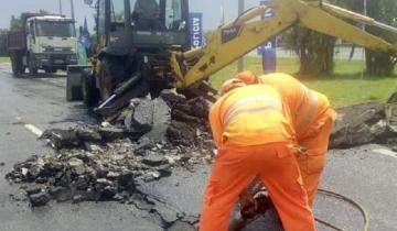 Imagen de Por las altas temperaturas, se levantó un tramo de asfalto en la Ruta 2