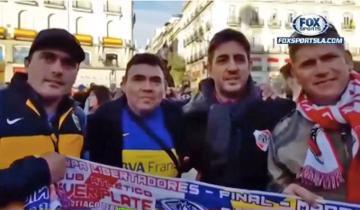Imagen de Uno de River, otro de Boca, la historia de los hermanos que viajaron a Madrid a ver la final de la Libertadores