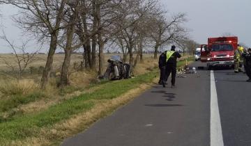 Imagen de Fallecieron cuatro personas al despistarse el auto en la Ruta
