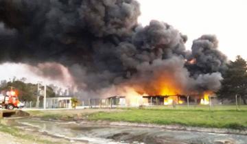 Imagen de La Defensoría en alerta por el incendio de una fábrica de agroquímicos en Mercedes
