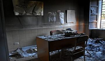 Imagen de Una explosión provocó la caída del cielo raso de una escuela en Mar del Plata
