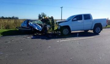 Imagen de Tremendo impacto en la Ruta 88: murió un hombre en un accidente frontal