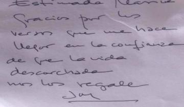 Imagen de Joan Manuel Serrat le escribió una carta a una escritora dolorense