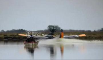Imagen de Avioneta pone en riesgo a pescadores con aterrizajes en la Laguna Los Horcones